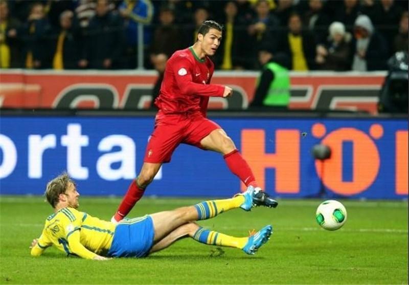 صعود پرتغال با هت تریک رونالدو، فرانسه با گل به خودی اوکراینی ها راهی برزیل شد