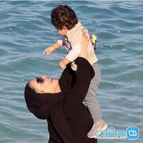 زیبا بروفه و پسرش اهورا